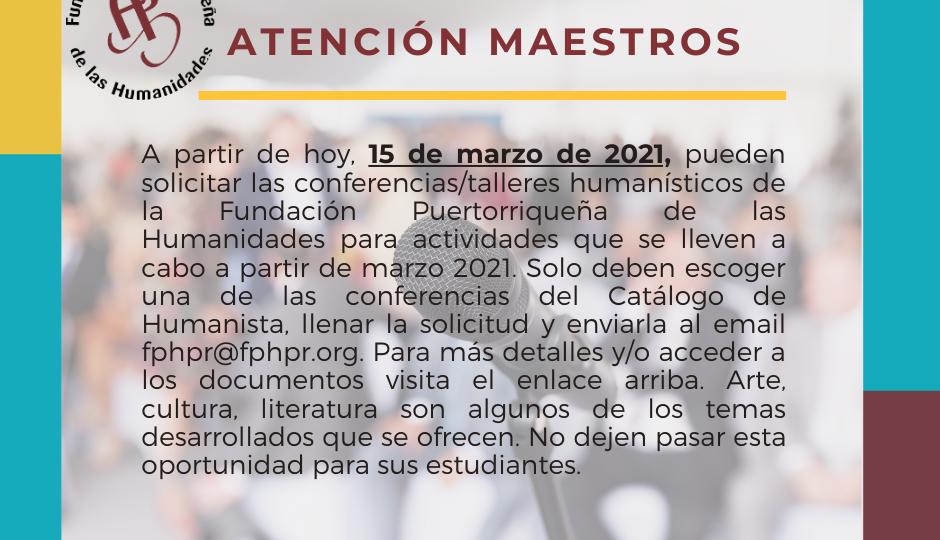 Promo Convo conferencias 2021